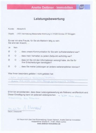 S. Vermietung Wohnung in Brüggen